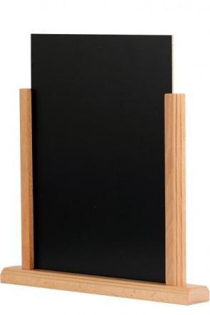 Wooden Menuholder Chalkboard, Buche, A5