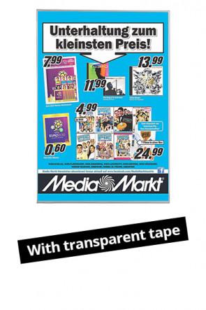 Plastic Window D-Pocket A4 - clear tape