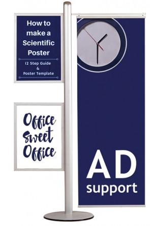 MULTISTAND 16 Doppelseitig mit 2 Stck. A2 Slide-in +50cm banner