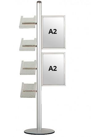 MULTISTAND 18 Einseitig mit 2xA2 Slide-in + 4xA4 Ablagen