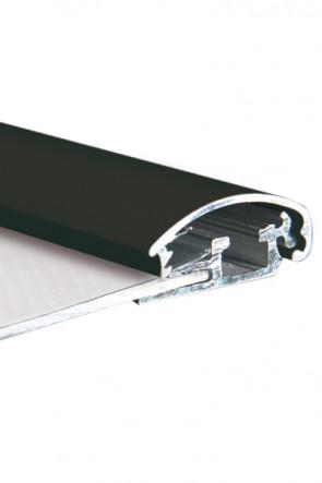 ALU SNAP PROFIL 25mm 3mtr - schwarz RAL 9005