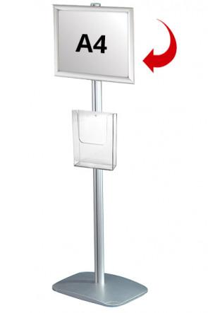 Mini Multistand 3 - Einseitig  A4 Snap Frame + A4 Prospekthalter
