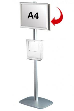 Mini Multistand 4 - Doppelseitig  A4 Snap Frame + A4 Prospekthalter