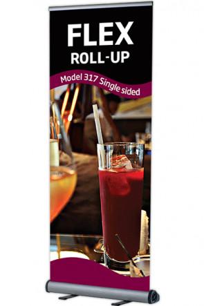 Flex Roll-up, einseitig 80x100-230cm alu - ohne Tasche