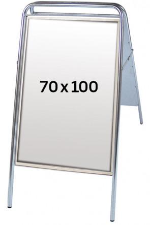 EXPO SIGN Kundenstopper 22 mm 70x100 cm silber