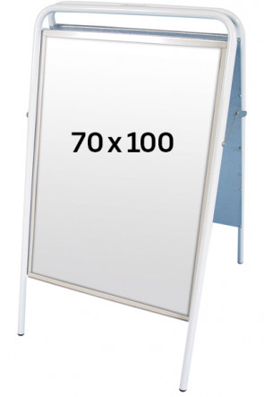 EXPO SIGN Kundenstopper 22mm 70x100 cm weiss