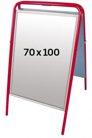 EXPO SIGN Kundenstopper 22 mm 70x100 cm rot