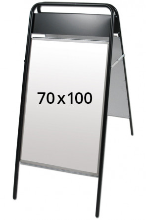 EXPO SIGN Kundenstopper 22mm 70x100cm OT Schwarz