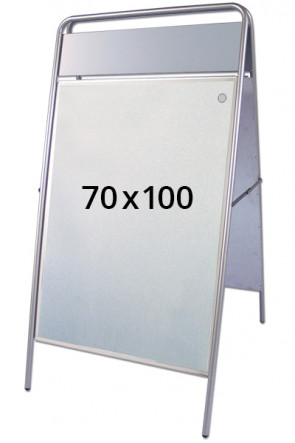 EXPO SIGN Kundenstopper 22mm 70x100cm OT silber