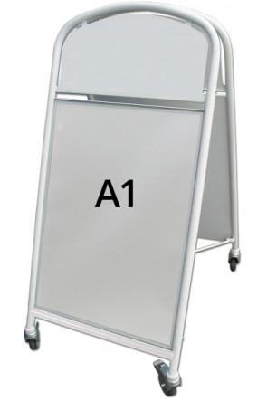 Ellipse Lux Kundenstopper A1 weiss