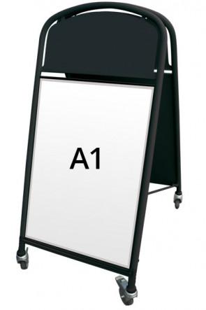 Ellipse Lux Kundenstopper A1 schwarz