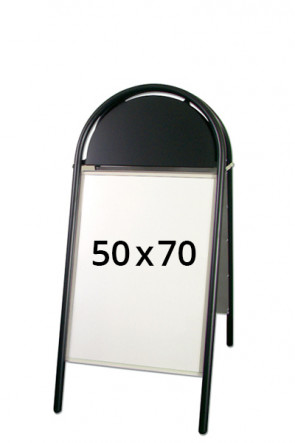 EXPO GOTIK LUX Kundenstopper 32mm 50x70cm Schwarz
