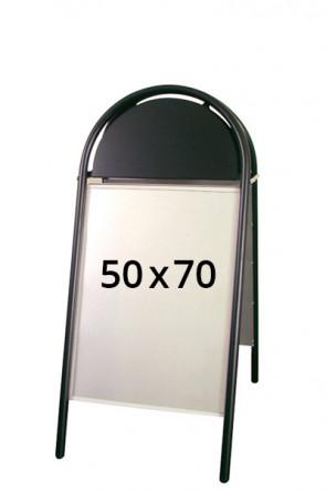 EXPO GOTIK Straßenständer 25mm 50x70cm schwarz