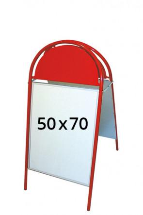 EXPO GOTIK Straßenständer 25mm 50x70cm rot