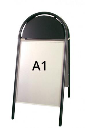 EXPO GOTIK Straßenständer 25mm A1 schwarz
