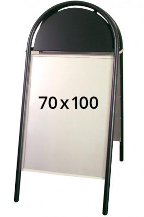 EXPO GOTIK Straßenständer 25mm 70x100cm schwarz