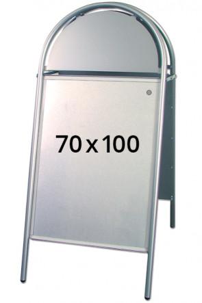 EXPO GOTIK Straßenständer 25mm 70x100cm silber