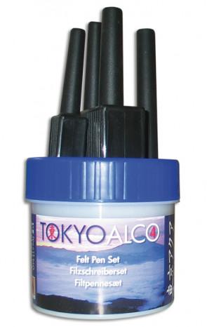 TOKYO ALCO 4 Filzschreibersatz Blau