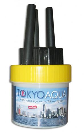 TOKYO AQUA 4 Filzschreibersatz Gelb