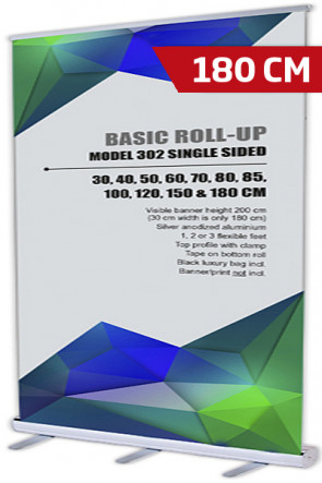 Basic Roll-up, Einseitig Model 180 - alu