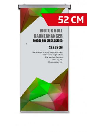 Motor Roll Bannerhanger, Modell 52cm - Alu