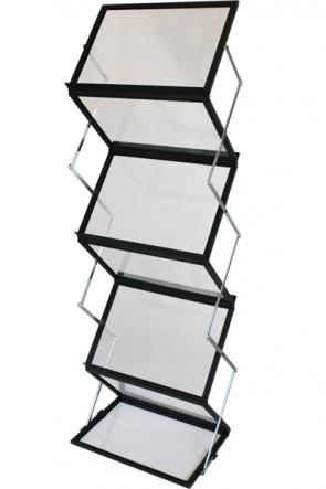 FLEX BROCHURE STAND schwarz, 6 x A3 mit Koffer