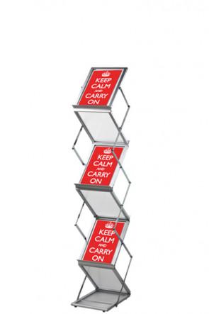 FLEX BROCHURE STAND 6 x A5 mit Koffer