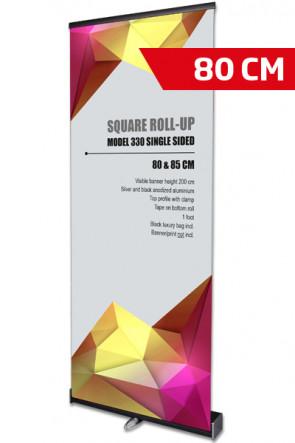 Square Roll-Up, Schwarz, Einseitig, 80 cm