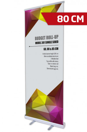 Budget Roll-up, Einseitig Model 80 - alu