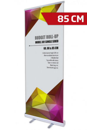 Budget Roll-up, Einseitig Model 85 - alu