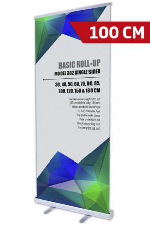 Basic Roll-up, Einseitig Model 100 - alu
