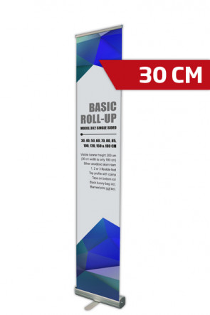Basic Roll-up, Einseitig Model 30 - alu