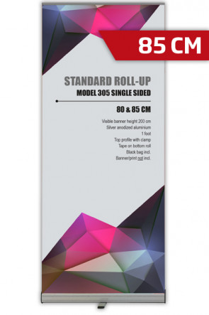 Standard Roll-up, 85cm,  Einseitig - alu
