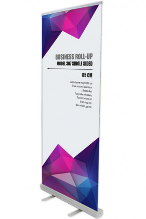 Business Roll-up, Einseitig Model 85 - alu