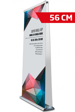 Expo Roll-up, Doppelt Model 56cm - alu