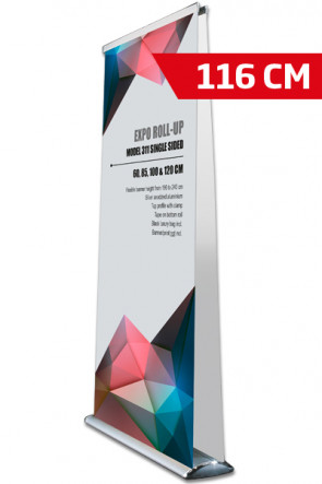 Expo Roll-up, Doppelt Model 116cm - alu