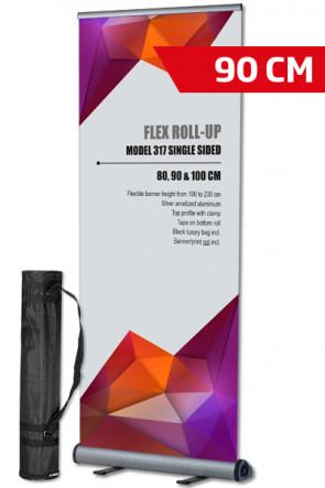 Flex Roll-up, einseitig 90x100-230cm alu, mit Tasche