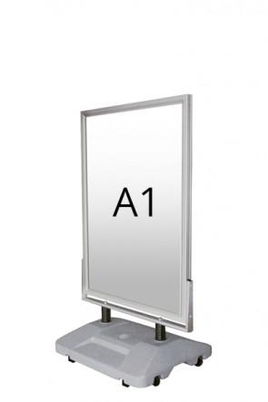WIND-SIGN WATERBASE Straßenständer 45mm (G) A1 alu