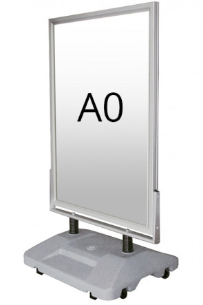 WIND-SIGN WATERBASE Straßenständer 45mm (G) A0 alu