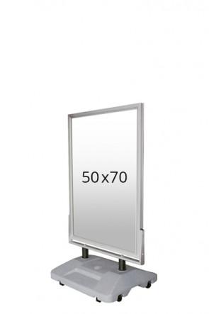 WIND-SIGN WATERBASE Straßenständer 45mm (G) 50x70cm alu