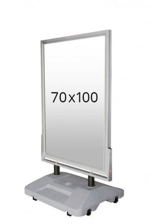 WIND-SIGN WATERBASE Straßenständer 45mm (G) 70x100cm alu
