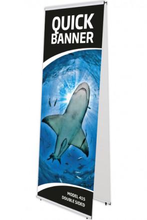 QUICK BANNER doppelt 80x200cm alu
