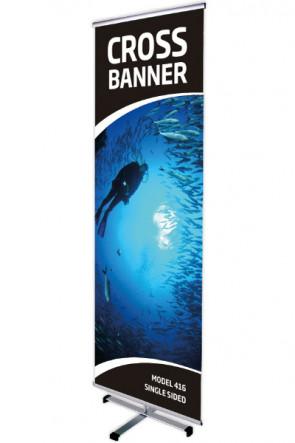 CROSS BANNER einseitig 60x200cm alu