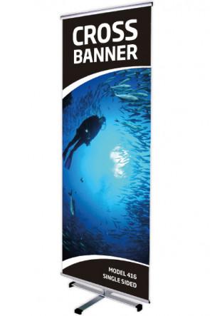 CROSS BANNER einseitig 80x200cm alu