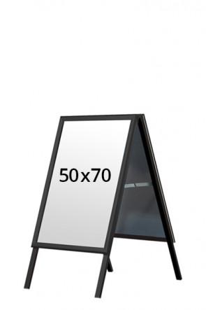ALU-LINE BLACK Kundenstopper 32mm 50x70cm (G) - Schwarz