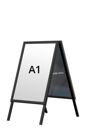 ALU-LINE BLACK Kundenstopper 32mm A1 (G) - Schwarz