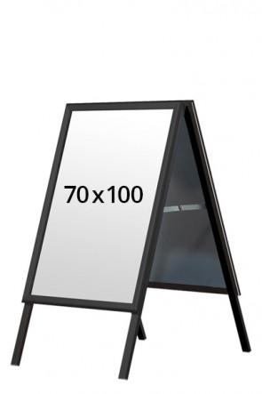 ALU-LINE BLACK Kundenstopper 32mm 70x100cm (G) - Schwarz