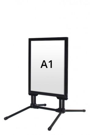 WIND-LINE BUDGET Straßenständer 40mm (G) A1 alu - Schwarz