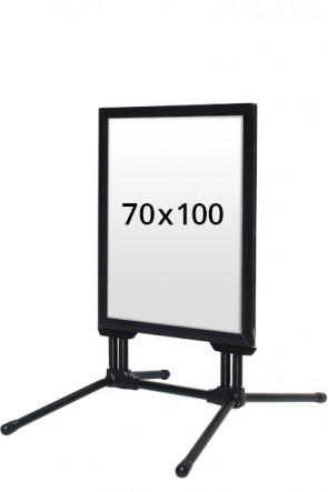 WIND-LINE BUDGET Straßenständer 40mm (G) 70x100cm - Schwarz