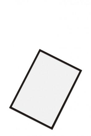Magnetic pocket for steel hole panels - Black, A4